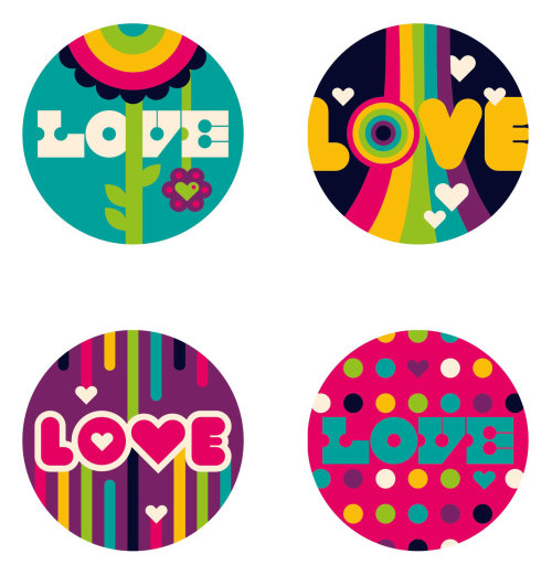 love pop art stickers