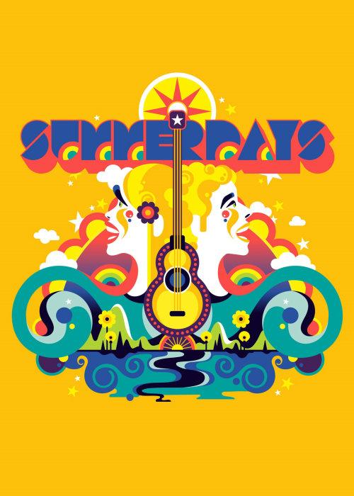 Cover design of Summer days music festival in Austria.