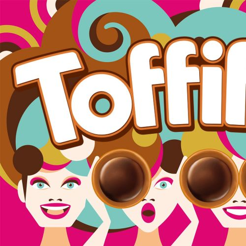 Packaging illustration for chocolate caramel for Toffifee: Family Edition