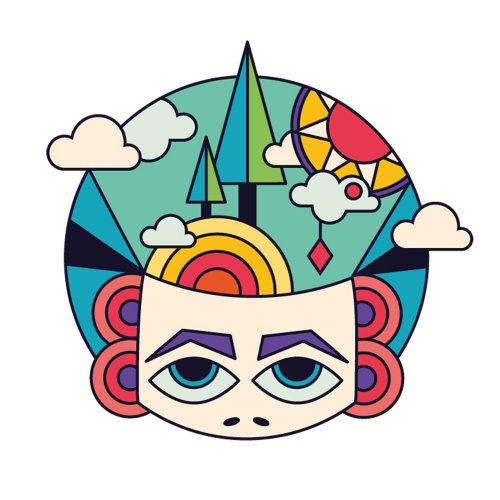 从《扑克思想》出版物中发现一张纸牌脸的插图和开放的胸怀。