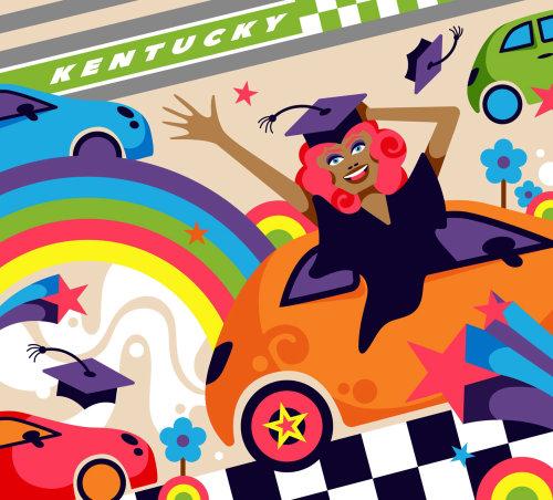 A fun, vibrant, pop art style illustration for Cincinnati magazine.
