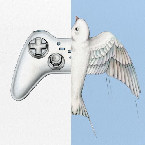illustration of video game controller