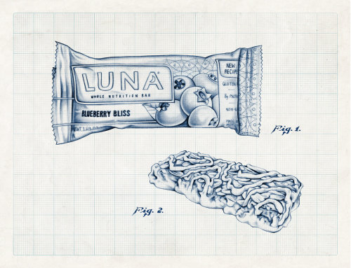 Pencil Sketch Of Luna Blueberry Bliss Bar