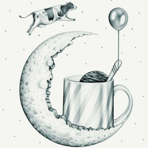 'Goodnight Moonshine'Cocktail illustration