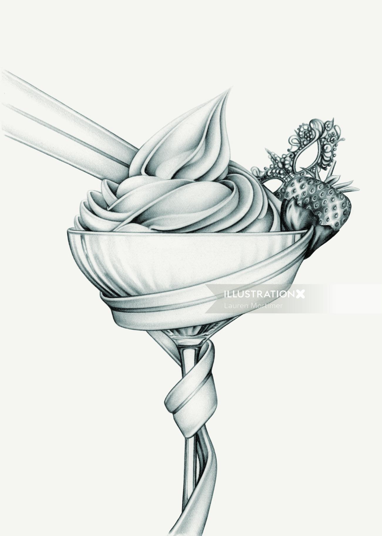 50 Shades of Grey' Cocktail Illustration