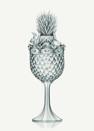 Drinking Game of Thrones 'Game of Thrones' Cocktail Illustration