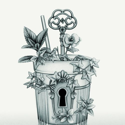 Seagram's Garden 'The Secret Garden' Cocktail Illustration
