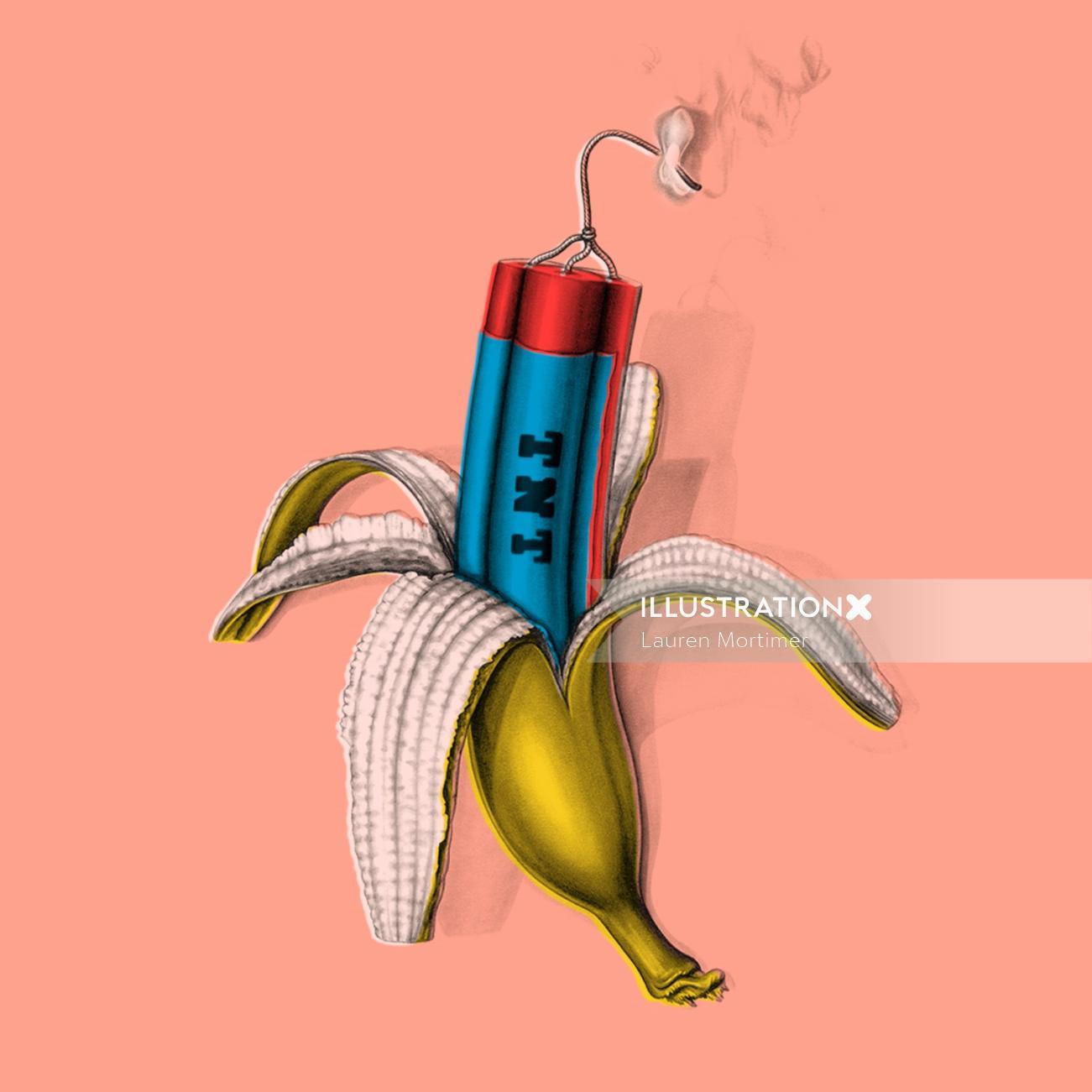 Banana dynamite art