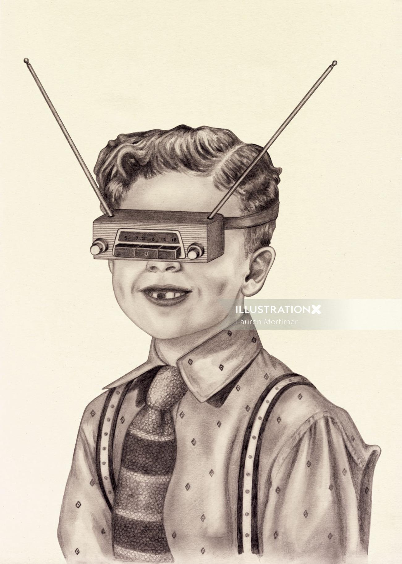 Boy with Radio VR