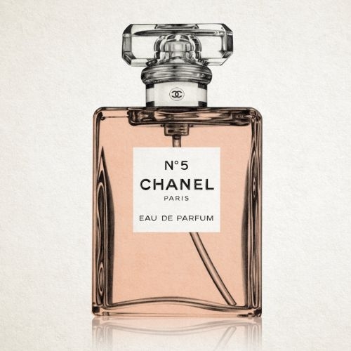 Chanel No.5 perfume bottle - Beauty illustration
