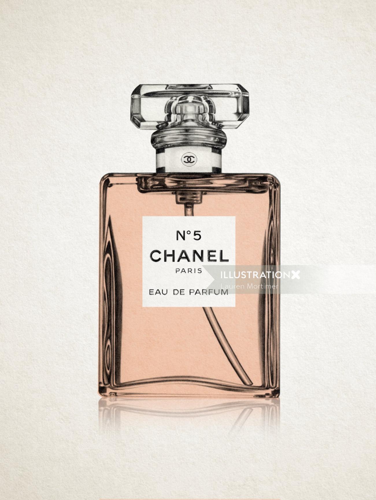 Chanel No.5 perfume bottle - Beauty illustration