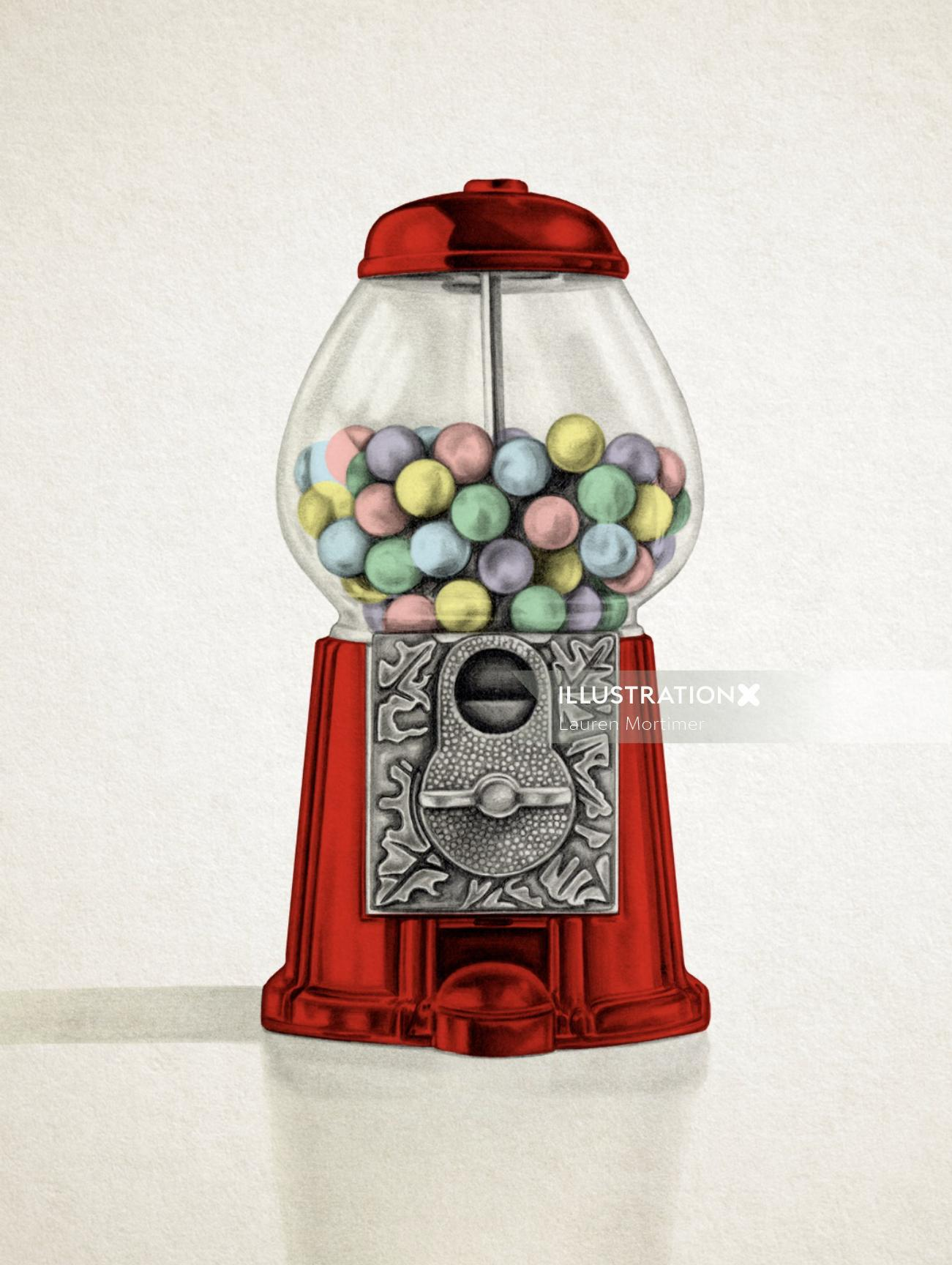 Photo realistic of Gumball Machine