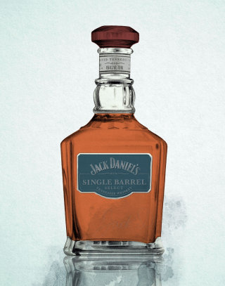 Pencil Sketch Of Jack Daniel's Whiskey