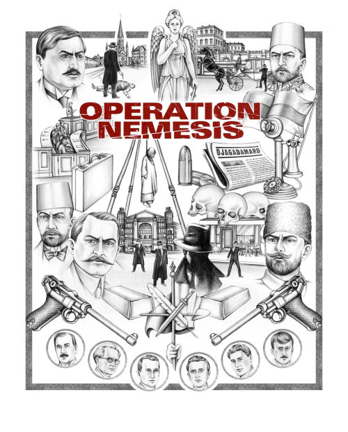 Operation Nemesis capa arte por Lauren Mortimer