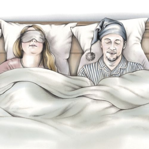 Illustration to accompany an article on mattress testing