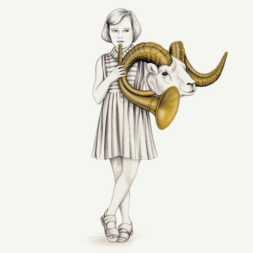Aries editorial horoscope illustration