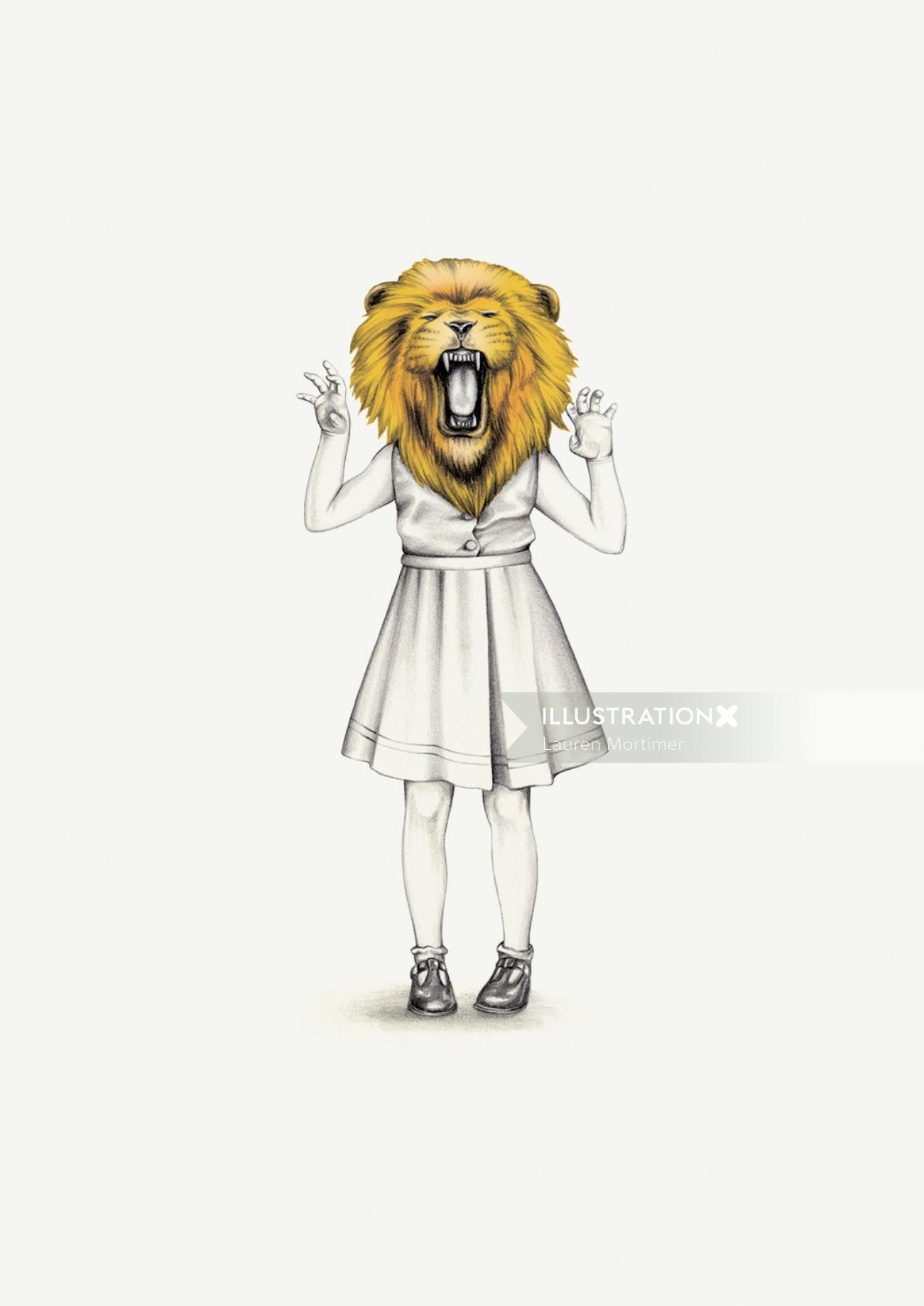 Pencil Drawing Of Leo Horoscope