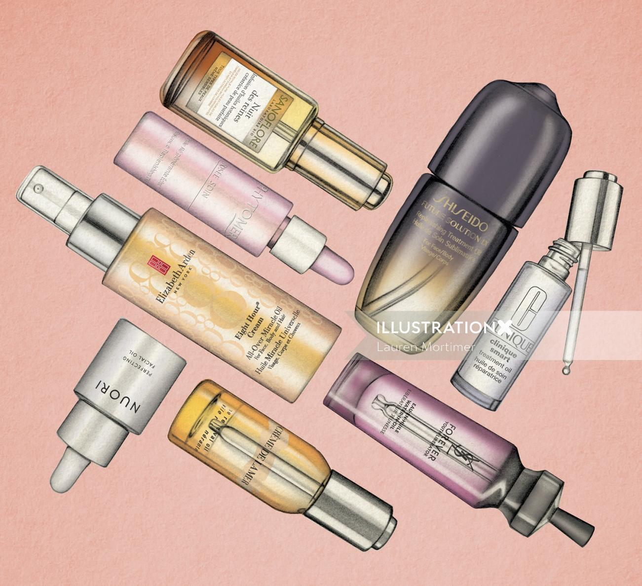 Body Oils : Beauty illustration