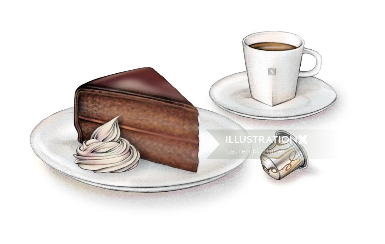 Snacks - Cup of tea and cake