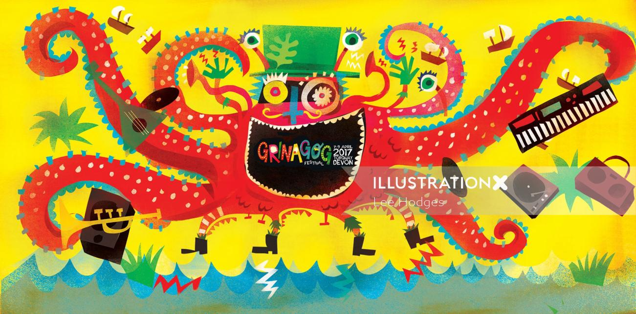 Graphic design for Festival Artwork