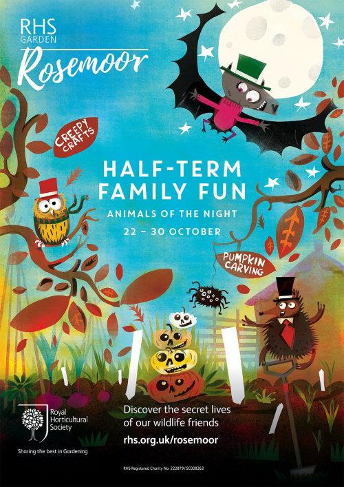 Design de cartaz de RHS Halloween