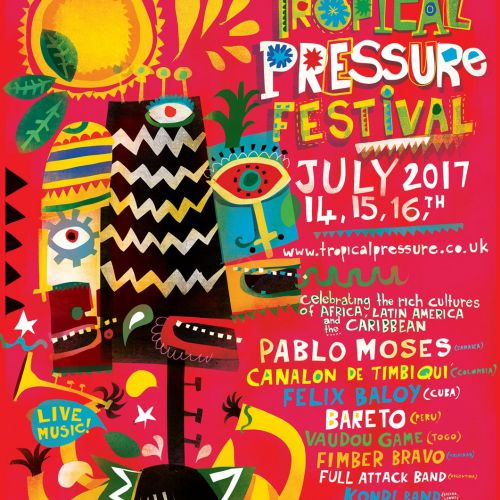 Poster design for Tropical Pressure 2017