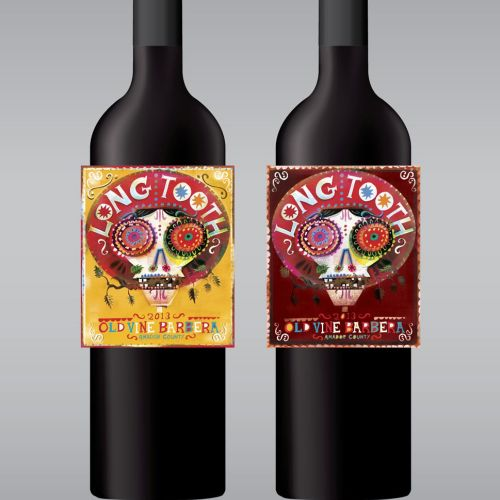 Decorative illustration for Long Tooth red wine