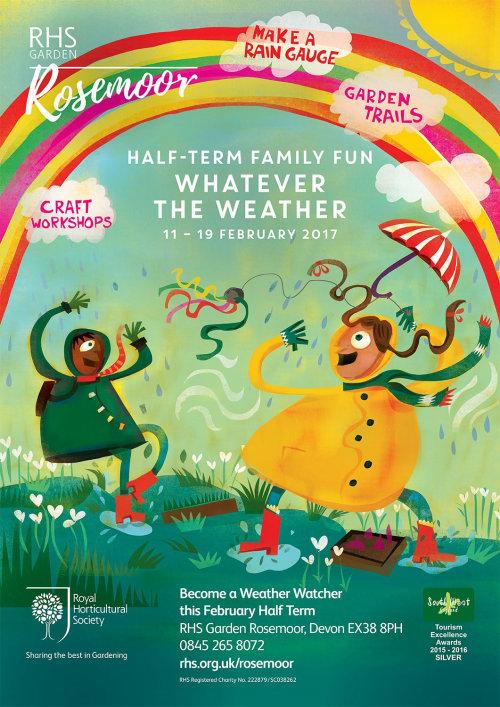 Design de cartaz do jardim RHS rosa pântano