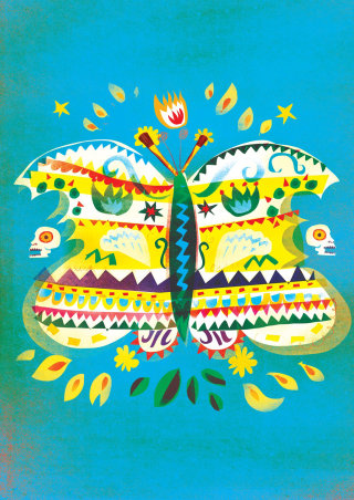 Colorful butterfly decorative art