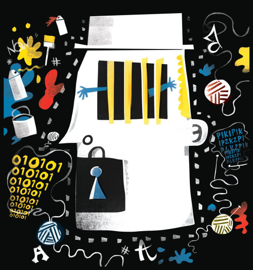 Design da capa da revista SCOOP