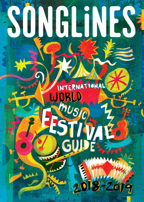 Poster design of Songlines Festival Guide