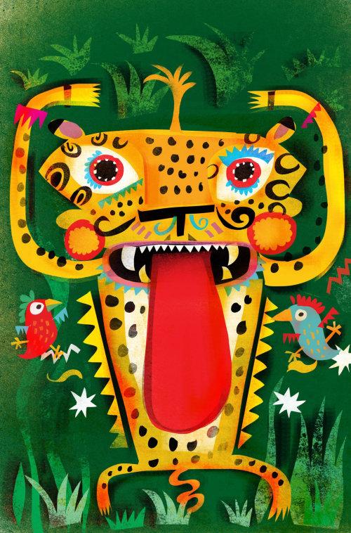 Diseño de personajes de jaguar