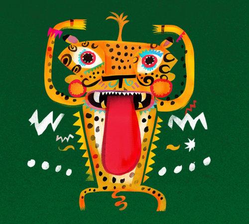 Animación de danza de jaguar tropical