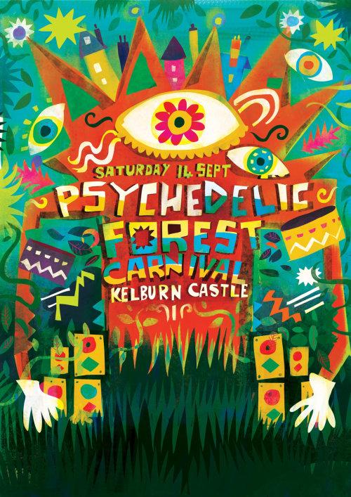 Design de personagens do festival Kelburn Forest