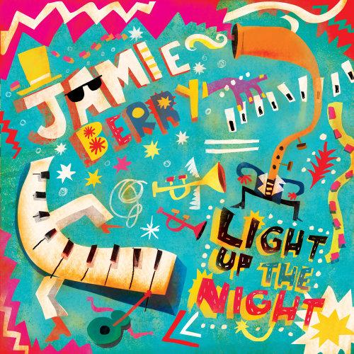Diseño gráfico del lanzamiento del álbum Jamie Berry