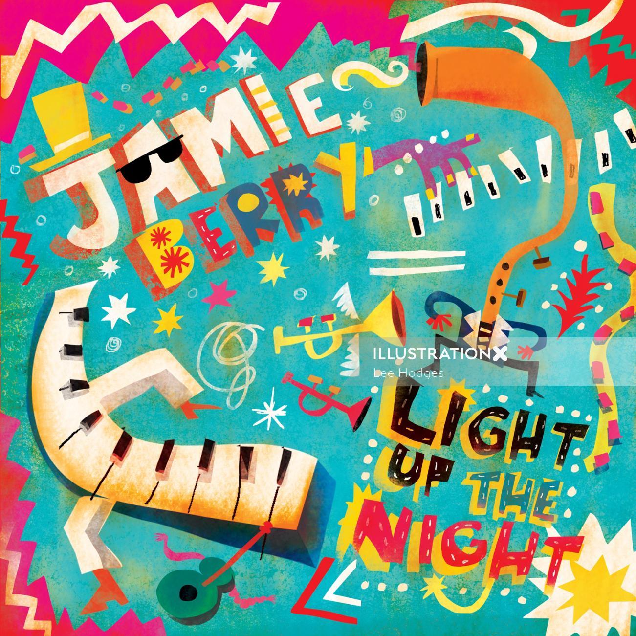 Graphic design of Jamie Berry album release