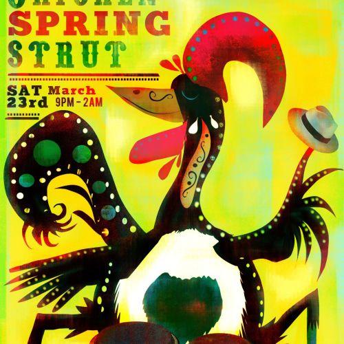 Chicken spring strut