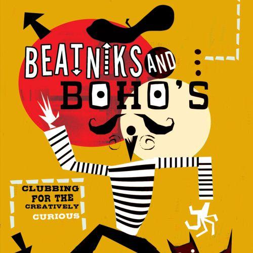 Beatniks and Bohos  Typographic poster