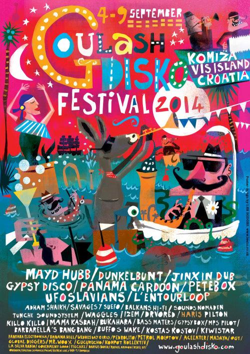 Lettrage du festival de goulash disko