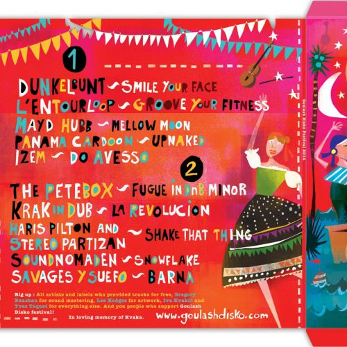 Goulash Disko Festival album covers illustration