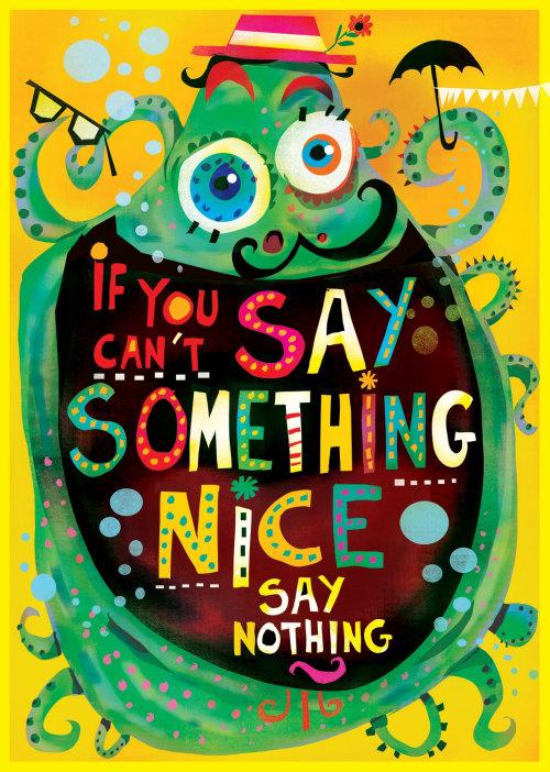 Di algo agradable