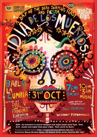 Poster illustration for Dia de los Muertos event