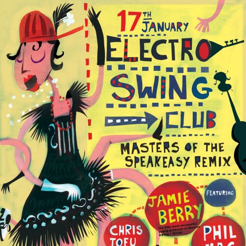 An illustration for electro sewing club poster