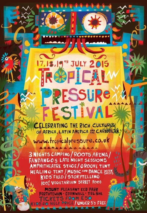 Uma ilustração para o festival de pressão Tropical