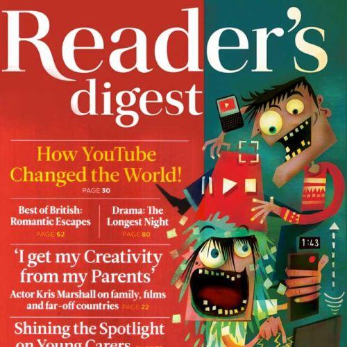 Readers Digest front cover illustration
