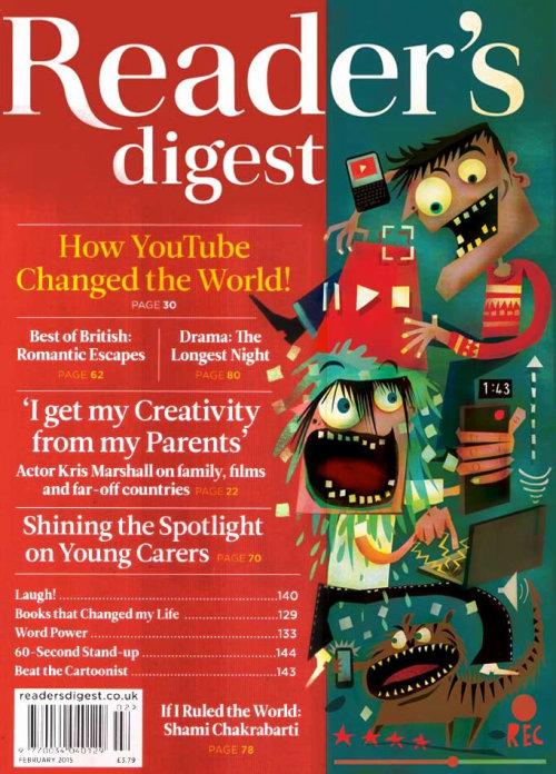 Ilustração da capa da capa do Readers Digest