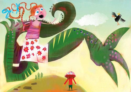 Design de personagens para ilustração de livro infantil
