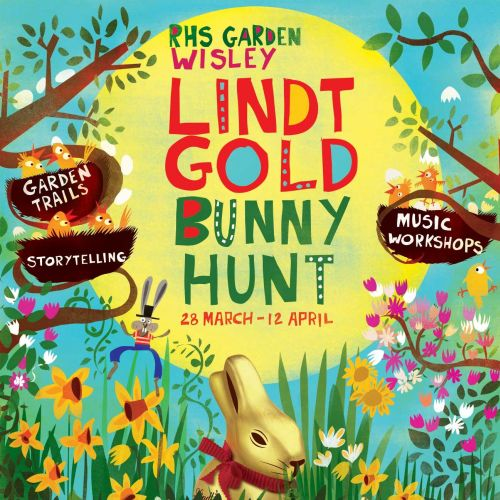 Lettering Lint Gold Bunny