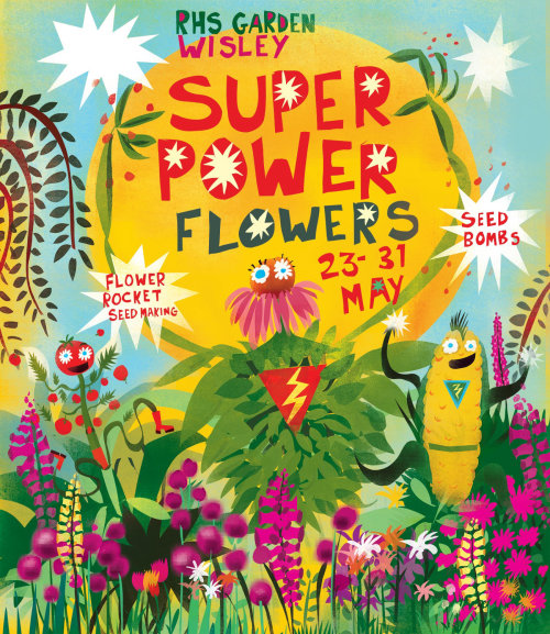 Illustration for super flower powers poster by Lee Hodges
