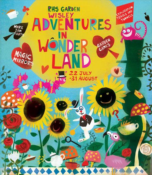 Ilustración de alicia en el país de las maravillas póster de Lee Hodges